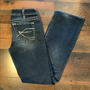 Silver Aiko Bootcut Jeans Size 29, 32 inch Inseam